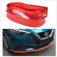 2.5m RED Car Front Bumper Spoiler Lip Kit Splitter Valance Chin Protector Kits
