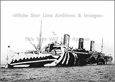 Photo: Rare Look: Troopship Leviathan Tied To Mooring Buoy, 1918