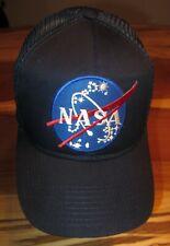 fdcee216de4f3 NASA Mens Baseball Cap, Hat, Blue with Mesh Back, Sewn-On,