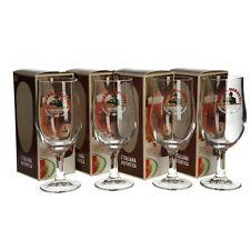 More details for 4 x new birra moretti schooner glasses (2/3 pint), beer glasses