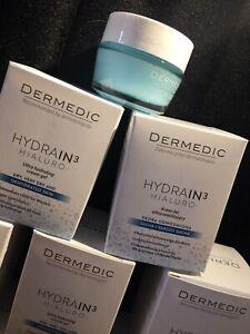 DERMEDIC Hydrain3 Hialuro Deeply Moisturising Cream Gel. Clinically proven ultra
