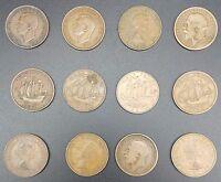 2 Replacement Shove Ha'penny Board Coin Sets - Shove Halfpenny, Genuine Pre 1967