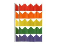 60 x Fête de Noël Crackers chapeau - papier tissu - Assortiment couleurs
