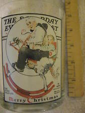Norman Rockwell Gramps . Saturday Evening Post Collectible Glass Cl24-19