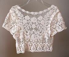 Off-white Victorian Style Beaded Lace Bridal Bolero Ivory size M NEW