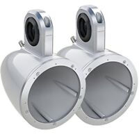 """KICKER 12KMTESW 6.5"""" EMPTY TOWER CANS (PAIR) WHITE"""