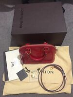louis vuitton alma bb,monogram vernis, with receipt