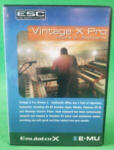 New E-MU EmulatorX  Proteus Vintage X Pro Volume 3 Keyboards