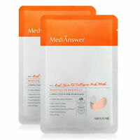 MediAnswer Real Skin Fit Collagen Neck Mask 2 Sheet / K-Beauty