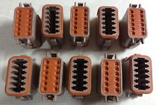 Lot of 10 TE Connectivity / DEUTSCH DT06-12SD Connector Housing, 12 Position