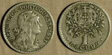 Portugal : 1931 1  Esc   KM#578   VF-XF Some Roughness  IR619
