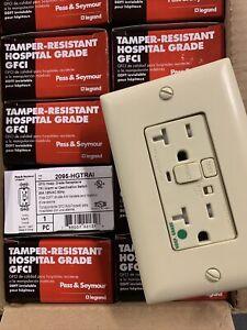P&S 20 AMP GFCI Ivory - Tamper Resistant Hospital Grade Alarm - Box Of 10