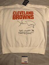 John Dorsey Signed Autographed Cleveland Browns Sweatshirt Buddy Boy Psa/Dna