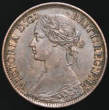 More details for 1867   victoria farthing   bronze   coins   km coins