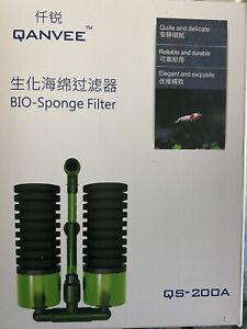Double BIO Sponge Filter - Qanvee QS-200A