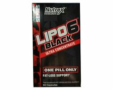 Nutrex Lipo 6 Black Ultra Concentrate 60 Capsules Weight Loss Support Lipo-6.