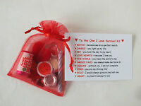 Novelty Survival Kit Gift One I Love Boyfriend Girlfriend Fiance Husband Wife