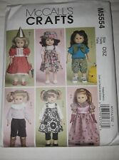 McCalls M5554 American Girl Doll Clothes Pattern 6 Outfits Backpack Uncut 2007