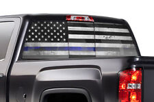 GMC Sierra Chevy Silverado Window Wrap Vision Graphics Sticker Decal 14-17 U LNE
