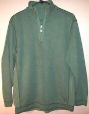 mens TOMMY BAHAMA REVERSABLE 1/4 Zip sweat shirt  MED DARK GREEN