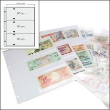 Folienblätter für Eintrittskarten Tickets - Sammlung je 3 Fächer klar 15er-Pack
