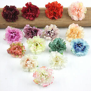 "Wholesale Small Carnation 2"" Lot Artificial Silk Flower Heads Wedding Home Decor"