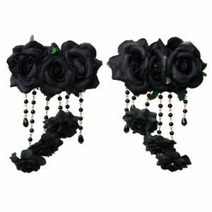 Lolita Girls Hair Clip Hairpin Bridal Headwear Gothic Women Hair Pin Flower