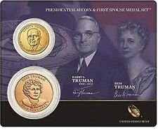 5 sets 2015 Harry Truman Presidential Dollar and First Spouse Medal Set