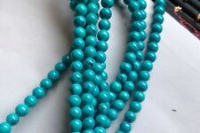 """4mm Natural Round Blue Turquoise Jewelry Making Loose Gemstone Beads Strand 15"""""""