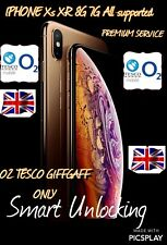 O2 IPHONE XR XS X UNLOCKING Service 17-72 HRs FASTEST SERVICE