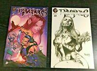 Ravenous #1A red foil & #2C 1:5 Varese variant NM+ 9.6 Creature Ent 2 comics