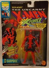 MARVEL X-Men X-Force Deadpool 1st Figure With Spring-Out Dagger ToyBiz MOC