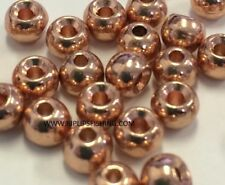 """TUNGSTEN FLY TYING BEADS COPPER 3.5 MM 1/8"""" 100 COUNT"""