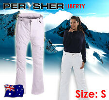 PERYSHER LIBERTY Ladies Ski & Snowboard Pants: *Snowy White* - Size Small