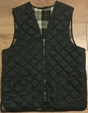 Superb Barbour Quilted Shooting Hunting Waistcoat Vest Gilet. Green. Size 42 (L)