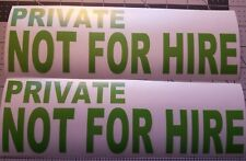 """Not for Hire Decals Vinyl Lettering 3."""" x 10."""" Commercial Truck not for hire"""