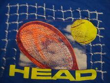 Vintage HEAD Tennis Ball Racquet Sports Athletic Exercise Blue Men's T Shirt XL