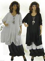 592885b3f9c975 PoCo DeSiGn LAGENLOOK Beulen Ballon Tunika Long-Shirt Kurz Kleid L-XL-XXL