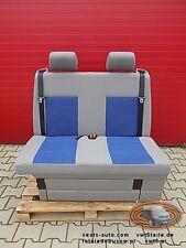 VW T5 Sitzbank Doppelbank Schlafbank Multivan Caravelle modell California Blue