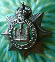 4th Volunteers Battalion Devonshire Regiment Cap Badge KC 2 Lug ANTIQUE Original