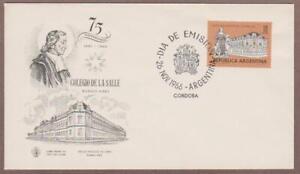 Argentina # 812 , La Salle Monument and College FDC - I Combine S/H