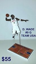 Custom D. Wade SG Team USA (white uniform) Mcfarlane figure