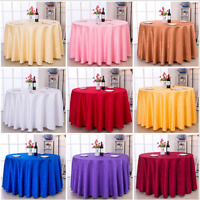 60''-120'' Round Polyester Tablecloth Cover For Wedding Party Banquet Table New+