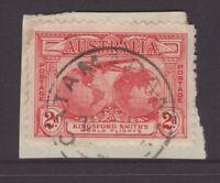 Tasmania CATAMARAN type 4 postmark rated 2R by Hardinge on piece