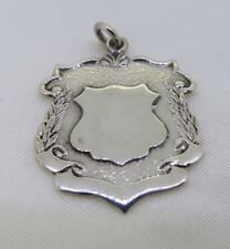 925 STERLING SILVER SHIELD FOB PENDANT