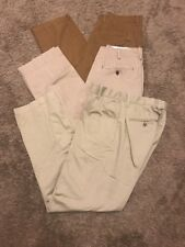 Gap Men's Khakis 29 X 30 Vtg Standard Classic Relaxed Lived In 3 Pairs Brown Tn