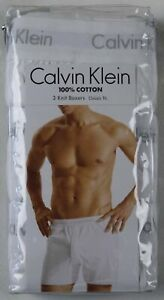 Calvin Klein 3 Pack Classic Fit White Knit Boxers NWT