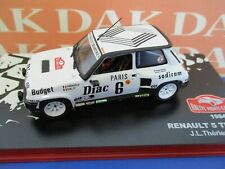Die cast 1/43 Modellino Auto Renault 5 Turbo Rally Monte Carlo 1984 J-L. Therier