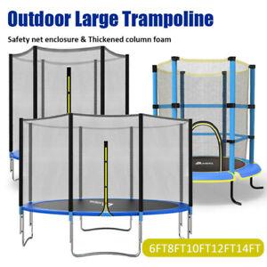 6FT8FT10FT 12FT 14FT 4.5FT Trampoline Safe Net Spring Rain Cover Ladder Shoe Bag