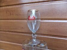 STELLA ARTOIS HALF PINT GLASS CHALICE GOLD RIM CE M15 OFFICIAL MARK COLLECT ONLY